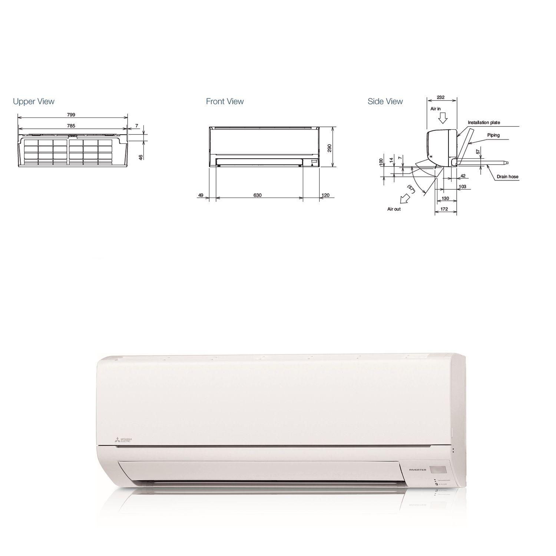 Mitsubishi Electric Air Conditioning Msz Dm25va Wall Mounted 25kw Wiring Diagram 9000btu Inverter Heat Pump